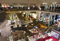 Mall interior. ROME, ITALY - OCTOBER 27, 2014: Coin modern shopping mall interior view from above Stock Photos