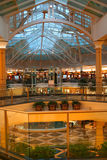 Mall Interiors. Luxurious mall interiors with blue roof Royalty Free Stock Photography