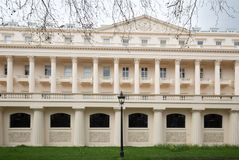 Carlton House Terrace on The Mall in London,. The Mall, London, 2018.  Carlton House Terrace houses the Institute of Contemporary Arts in London ICA. It is a Stock Photo