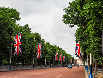 Mall in London (hdr). LONDON, UK - CIRCA JUNE 2017: The Mall links Trafalgar Square to Buckingham Palace (high dynamic range Stock Image