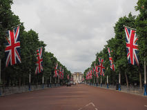 Mall in London. LONDON, UK - CIRCA JUNE 2017: The Mall links Trafalgar Square to Buckingham Palace Stock Image