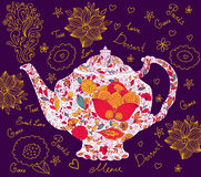 Mall med teapoten Fotografering för Bildbyråer