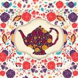 Mall med teapoten Royaltyfria Foton