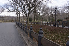 The Mall in New York City`s Central Park Looking North Toward Bethesda Terrace Royalty Free Stock Photography