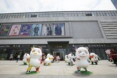 Mall outside. Decoration cartoon china Stock Photos