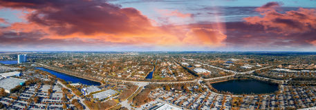 Mall parking area, aerial view.  Stock Image
