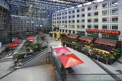 Mall with restaurant and terrace Stock Photo