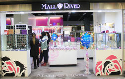 Mall River shop in hong kong. Mall River shop, located in Metroplaza, Hong Kong. Mall River sells fashion accessories and home accessories in Hong Kong Royalty Free Stock Photos