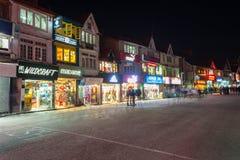 Mall Road, Shimla. SHIMLA, INDIA - NOVEMBER 06, 2015: Mall Road is the main street in Shimla, the capital city of Himachal Pradesh, India Stock Photos