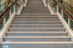 Mall's Granite Staircase. Image of Gray granite staircase Stock Images