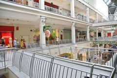 Mall`s interior Stock Photos