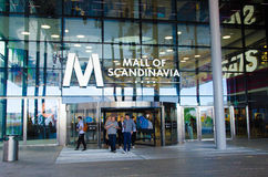 Mall of Scandinavia. The largest shopping centre in Scandinavia situated in Solna, Sweden Royalty Free Stock Photography