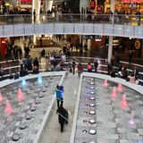 Mall of Scandinavia. Is a mall located next to the Friends Arena, Arena City in Solna.  is Sweden's largest shopping mall and the largest in Scandinavia. The Royalty Free Stock Photos