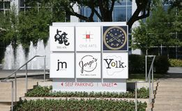 Mall and Shopping area Dallas, Texas Stock Image