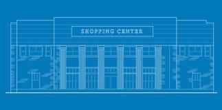 Mall shopping center building stock illustration