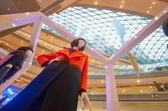 Mall shopping mall interior. SHENZHEN, CHINA - OCTOBER 15, 2015: close up shot of installation at KK Mall shopping mall. It is high-end shopping mall in Shenzhen Royalty Free Stock Photography