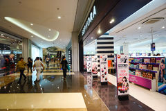 Mall shopping mall interior. SHENZHEN, CHINA - OCTOBER 15, 2015: KK Mall shopping mall interior. KK Mall is high-end shopping mall in Shenzhen, within walking Stock Images