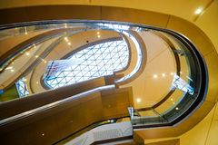 Mall shopping mall interior. SHENZHEN, CHINA - OCTOBER 15, 2015: KK Mall shopping mall interior. KK Mall is high-end shopping mall in Shenzhen, within walking Stock Photography