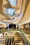 Mall shopping mall interior. SHENZHEN, CHINA - OCTOBER 15, 2015: KK Mall shopping mall interior. KK Mall is high-end shopping mall in Shenzhen, within walking Royalty Free Stock Image