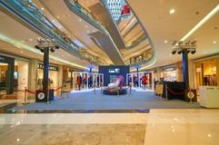 Mall shopping mall. SHENZHEN, CHINA - OCTOBER 15, 2015: installation at KK Mall shopping mall. It is high-end shopping mall in Shenzhen, within walking distance Stock Photo