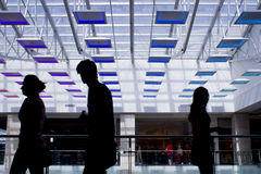 Mall silhouettes Stock Photos