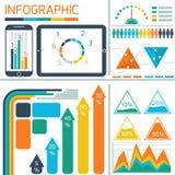 Mall som är infographic för IT-teknologi Arkivfoto