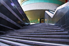 Mall Stairs of Success. Stairs of success leading to a high-end mall Stock Image