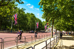The Mall, street in front of Buckingham Palace in London Stock Photos
