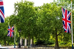 The Mall, street in front of Buckingham Palace in London Royalty Free Stock Photo