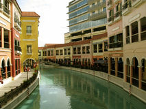 Mall Venedigs Grand Canal, McKinley-Hügel, Taguig, Philippinen Lizenzfreie Stockbilder