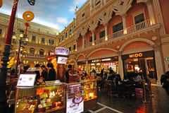 Mall in The Venetian Macao Stock Images