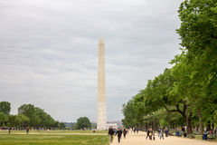 The Mall Washington DC. The Mall and the Obelisk, Washington DC Royalty Free Stock Image