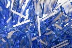 Malla azul y blanca de los Años Nuevos Tema de la Navidad del fondo mac Fotografía de archivo libre de regalías