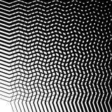 Malla del irregular hecha punta, líneas onduladas de la rejilla Monocromo abstracto t ilustración del vector