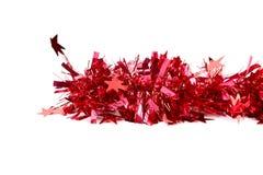 Malla del rojo de la Navidad. Foto de archivo