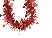 Malla del rojo de la Navidad. Imagen de archivo libre de regalías