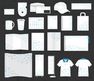 Malla del social de la comunicación de las plantillas de la identidad corporativa del vector Fotos de archivo libres de regalías