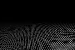 Malla metálica de la curva en fondo negro Fotografía de archivo libre de regalías