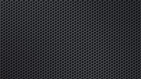 Malla metálica hexagonal brillante del extracto en fondo negro imágenes de archivo libres de regalías