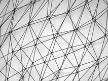 Malla molecular digital brillante negra abstracta 3d Fotografía de archivo libre de regalías