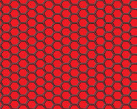 Malla negra del hexágono en vector rojo del fondo Imágenes de archivo libres de regalías