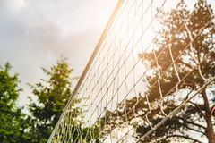 Malla para el voleibol de playa Imágenes de archivo libres de regalías