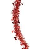 Malla roja de la Navidad con las estrellas. Imágenes de archivo libres de regalías