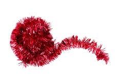 Malla roja de la Navidad del brillo, fondo blanco Imagen de archivo