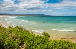 Mallacoota paradisiac views of the beach in the summer Stock Image