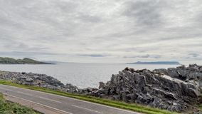 Mallaig, Scotland, United Kingdom - A view from the Ferry Road. The Ferry connect the Isle of skye Royalty Free Stock Image