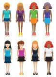 Mallar av ansiktslösa flickor Royaltyfri Fotografi