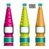 Mallar av stilfulla flaskor Royaltyfri Foto