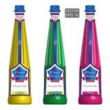 Mallar av stilfulla flaskor Arkivfoto