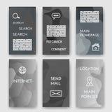 mallar Designuppsättning av rengöringsduken, post, broschyrer internet och Infographic begrepp Modernt plant och linje symboler r Royaltyfri Fotografi